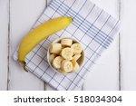 Top View Of Ripe Yellow Banana...