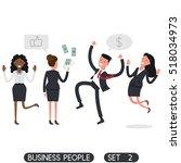 business people set 2. flat... | Shutterstock .eps vector #518034973