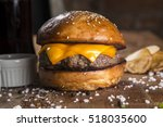 Delicious Cheese Burger On A...