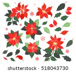 christmas collection of...   Shutterstock .eps vector #518043730
