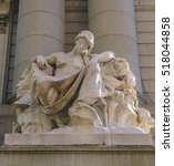 Small photo of NEW YORK - OCT 24: Africa statue at Alexander Hamilton U.S. Custom House on Oct 24, 2016 in New York, USA.