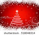 christmas background with... | Shutterstock .eps vector #518048314