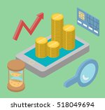 business search online flat... | Shutterstock .eps vector #518049694