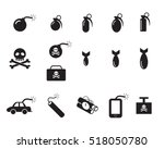 tnt and poison bomb icons in... | Shutterstock .eps vector #518050780