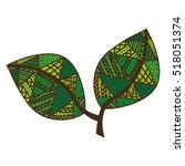 bohemian or boho style leaf... | Shutterstock .eps vector #518051374