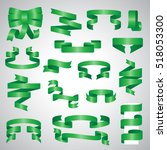 ribbon icons set   vector... | Shutterstock .eps vector #518053300