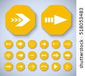 arrow icons set   vector... | Shutterstock .eps vector #518053483