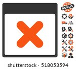 cancel calendar page icon with... | Shutterstock .eps vector #518053594