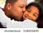 father and his daughter. | Shutterstock . vector #518053690