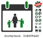 mother calendar day pictograph... | Shutterstock .eps vector #518059660