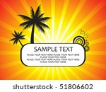 abstract summer holiday vector... | Shutterstock .eps vector #51806602