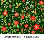 seamless floral pattern with... | Shutterstock .eps vector #518066659