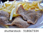 Steak Meat Fried With French...