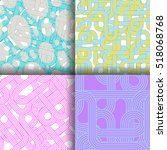 set of four vector seamless... | Shutterstock .eps vector #518068768