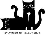 woodcut style image of two... | Shutterstock .eps vector #518071876