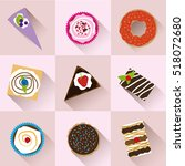 collection of colorful desserts    Shutterstock .eps vector #518072680