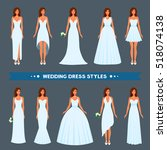a variety of styles  types ... | Shutterstock .eps vector #518074138