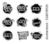 flat design sale stickers.... | Shutterstock .eps vector #518078920