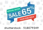 sale sixty five percent year... | Shutterstock .eps vector #518079349
