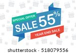 sale fifty five percent year... | Shutterstock .eps vector #518079556