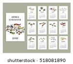 spices calendar of 2017. vector ... | Shutterstock .eps vector #518081890