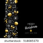 merry christmas happy new year... | Shutterstock . vector #518085370