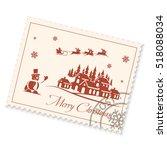 Christmas Postage Stamp On A...