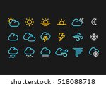 color weather forecast icons in