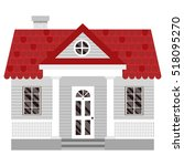 vector illustration with house... | Shutterstock .eps vector #518095270