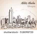 addis ababa cityscape  ... | Shutterstock .eps vector #518098720