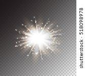 christmas fireworks. vector...   Shutterstock .eps vector #518098978