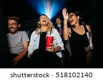 group of people in theater with ... | Shutterstock . vector #518102140
