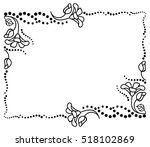 black and white frame outline... | Shutterstock .eps vector #518102869