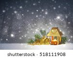 christmas background with... | Shutterstock . vector #518111908