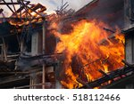 Modern Building On Fire