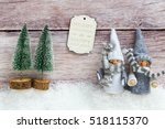 winter table setting with toy... | Shutterstock . vector #518115370