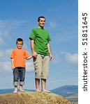 father and his son holding each ... | Shutterstock . vector #51811645
