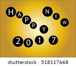happy new year 2017 grunge text ... | Shutterstock .eps vector #518117668
