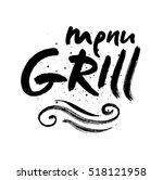 grill lettering background.... | Shutterstock .eps vector #518121958