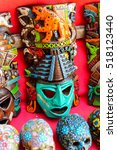 authentic handcraft souvenirs... | Shutterstock . vector #518123440