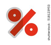 percent symbol isolated icon... | Shutterstock .eps vector #518123953