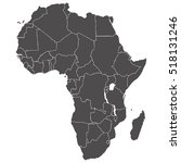 accurate map of the african... | Shutterstock .eps vector #518131246