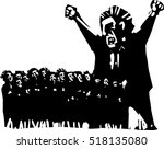 woodcut style expressionist...   Shutterstock .eps vector #518135080
