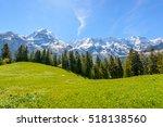 the swiss alps at murren ... | Shutterstock . vector #518138560