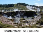 Steam from geothermal fields of Craters of the Moon NZ