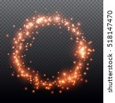 vector glowing fire or red ring ... | Shutterstock .eps vector #518147470
