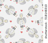 seamless pattern with flying... | Shutterstock .eps vector #518148310
