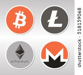 bitcoin  litecoin  ethereum ... | Shutterstock .eps vector #518159068