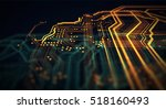 orange and green technology... | Shutterstock . vector #518160493
