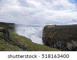 the big beautiful gullfoss... | Shutterstock . vector #518163400